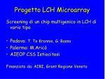 progetto lch microarray