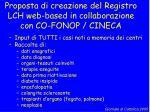 proposta di creazione del registro lch web based in collaborazione con co fonop cineca
