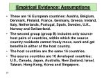empirical evidence assumptions28