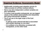 empirical evidence econometric model45