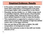 empirical evidence results50