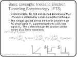 basic concepts inelastic electron tunneling spectroscopy iets11