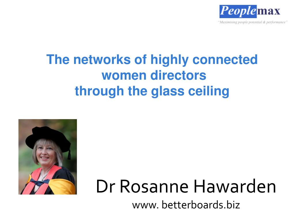 the networks of highly connected women directors through the glass ceiling l.
