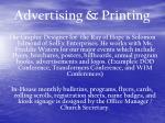 advertising printing