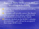 baptism baby dedication and wedding scheduling8