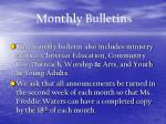 monthly bulletins23