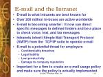 e mail and the intranet