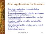 other applications for intranets