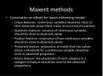 maxent methods16