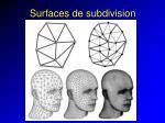 surfaces de subdivision33
