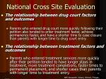 national cross site evaluation