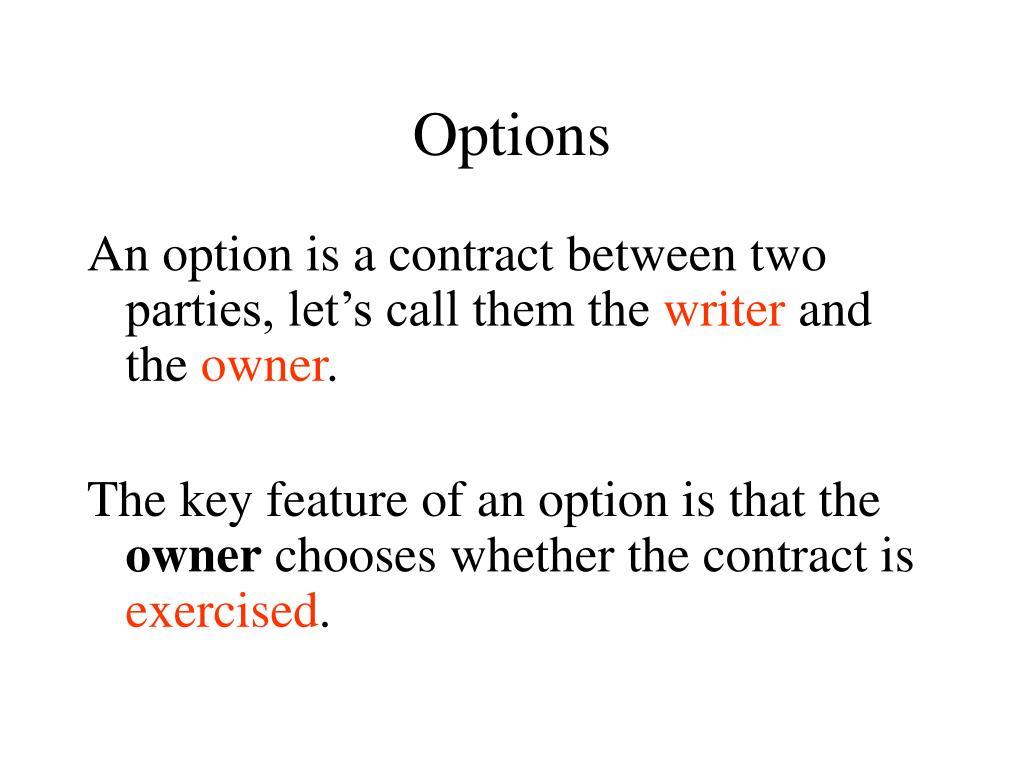 options l.