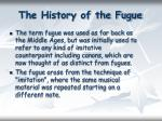 the history of the fugue
