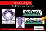 sro turf type tall fescue blends