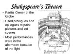 shakespeare s theatre