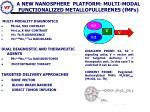 a new nanosphere platform multi modal functionalized metallofullerenes fmfs