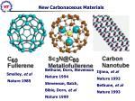 new carbonaceous materials