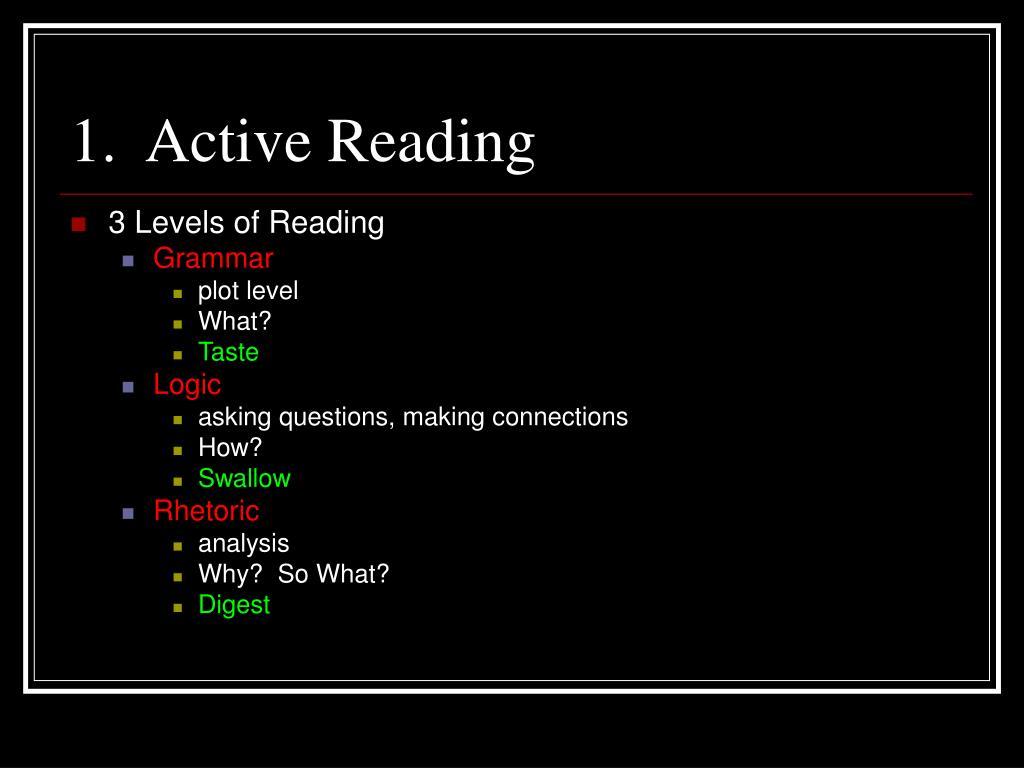 1.  Active Reading