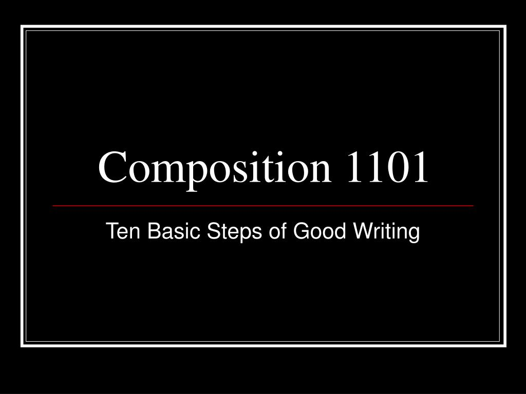 composition 1101 l.