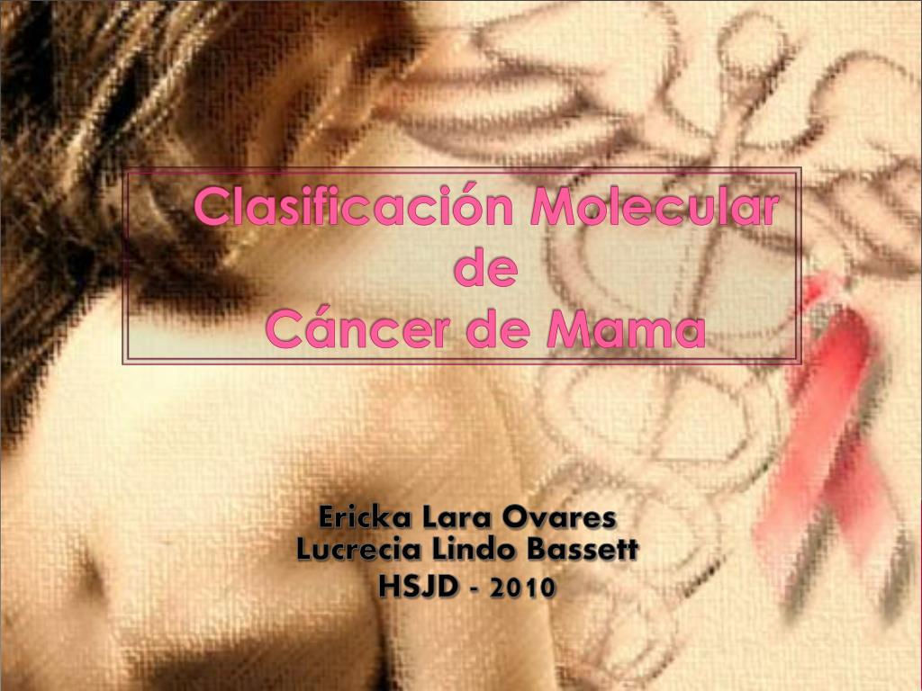 clasificaci n molecular de c ncer de mama l.