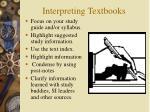 interpreting textbooks
