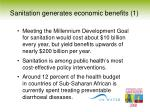 sanitation generates economic benefits 1