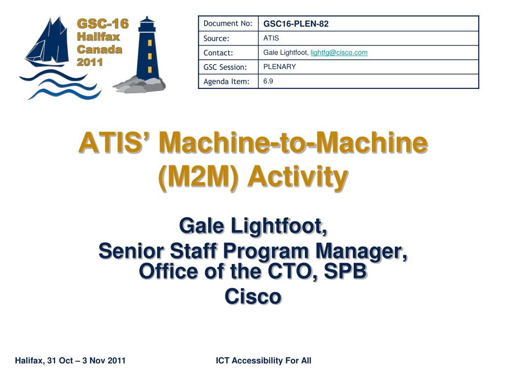 atis machine to machine m2m activity l.