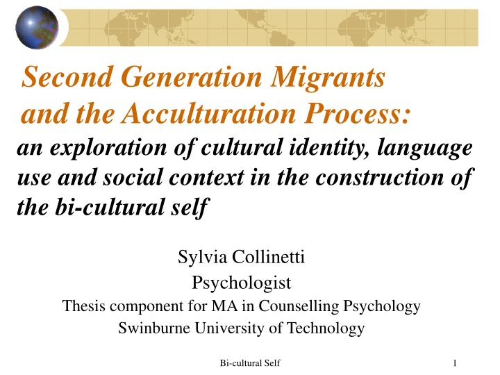 second generation migrants and the acculturation process n.