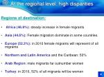 at the regional level high disparities