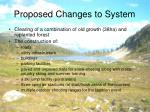 proposed changes to system
