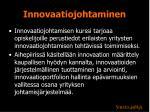 innovaatiojohtaminen