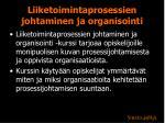 liiketoimintaprosessien johtaminen ja organisointi