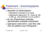 traitement bronchospasme