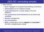 jscl sc concluding remarks