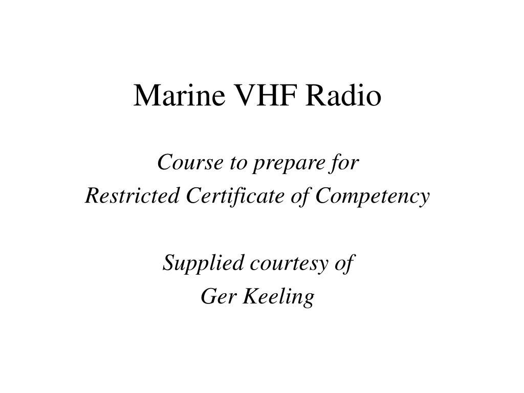 marine vhf radio l.