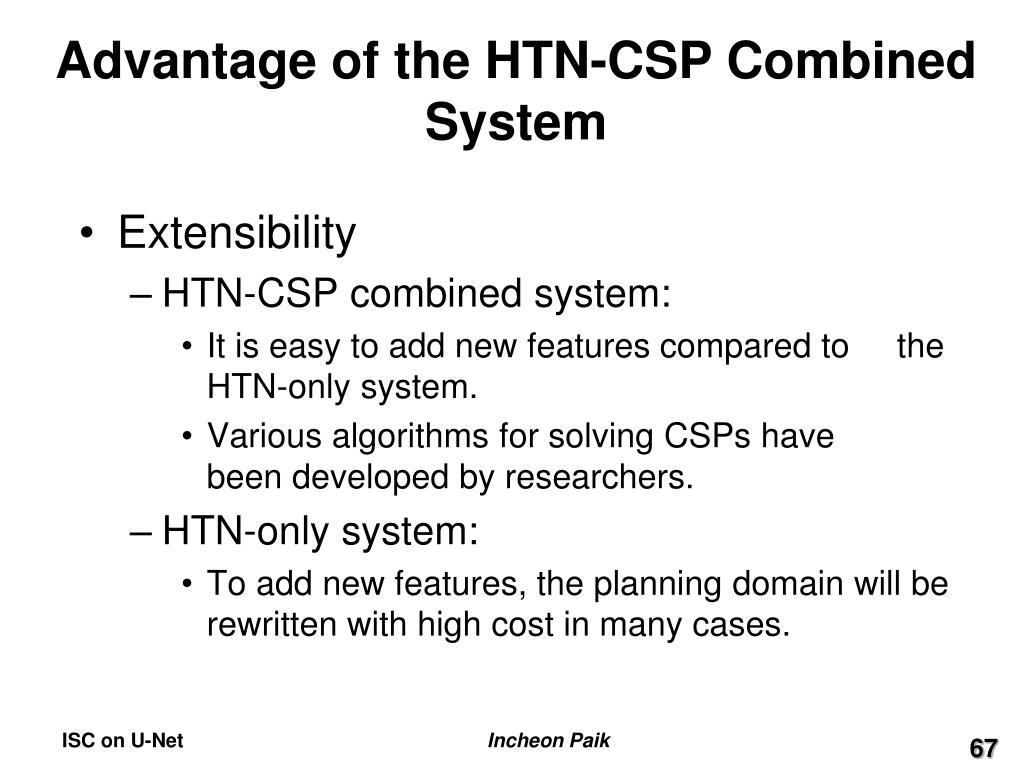 Advantage of the HTN-CSP Combined System