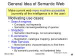 general idea of semantic web