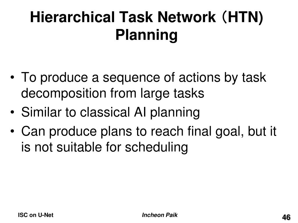 Hierarchical Task Network