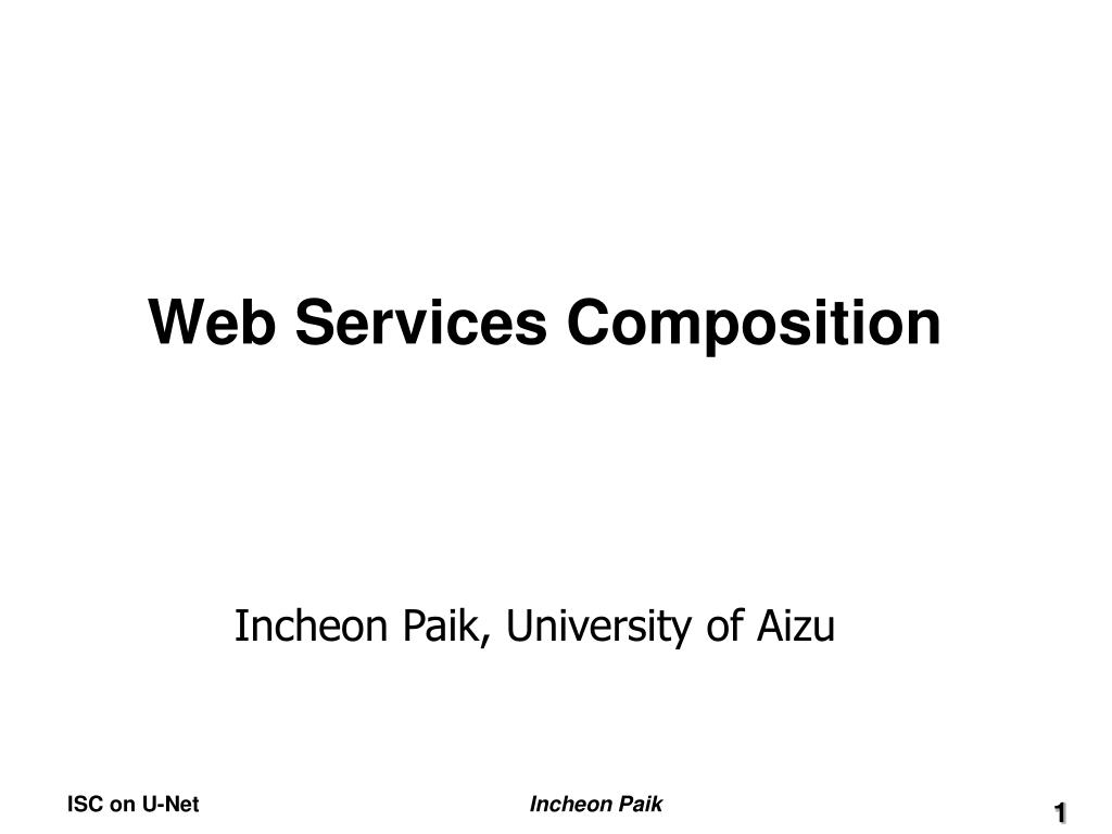 web services composition l.