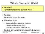 which semantic web20