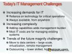 today s it management challenges