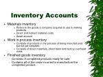 inventory accounts