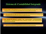 sistema de contabilidad integrada