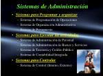 sistemas de administraci n