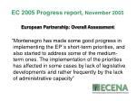 ec 2005 progress report november 2005