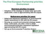 the first european partnership priorities environment