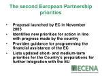 the second european partnership priorities