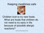 keeping mealtimes safe