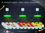 a virtual super peer data network