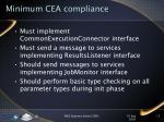 minimum cea compliance